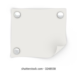 a white sheet of paper attached to the wall