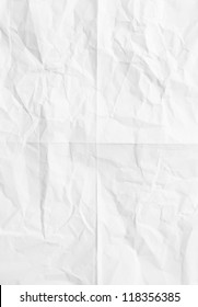 white sheet of paper folded and battered With texture.