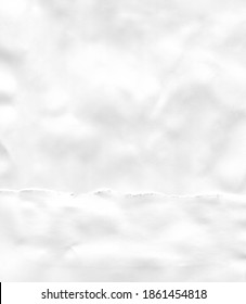 White sheet of paper. Сollage, ragged edge.