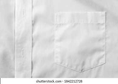 White shirt chest pocket close up