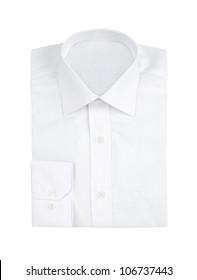 White shirt isolated on white background