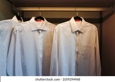 White shirts in the closet