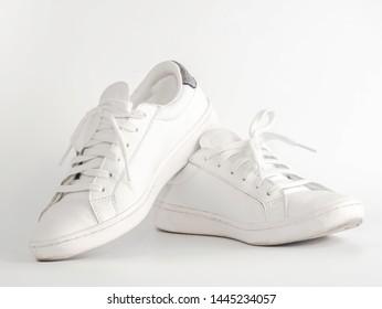 white shoe isolated on white background