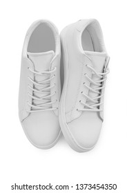 White shoes isolated