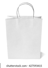 White shopping bag, isolated on White