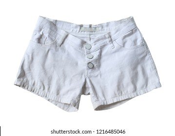 White shorts (with clipping path) isolated on white background