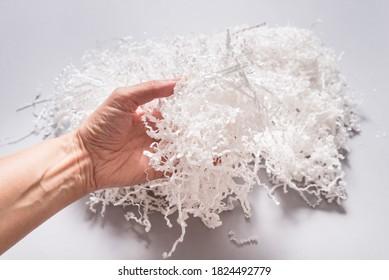 White shredded paper filler, wholesale supplies