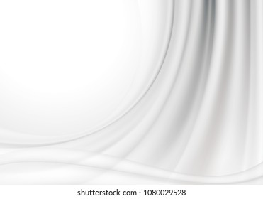 White silk fabric textile abstract background with copy space.
