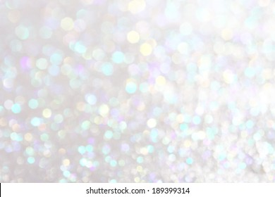 White and silver  festive Christmas elegant abstract background soft lights