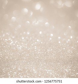 White and Silver lights on bokeh abstract background.