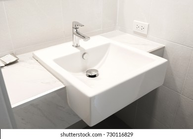 White Sink in the Bathroom