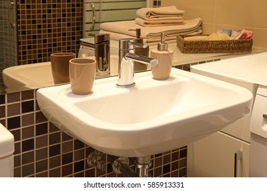 White Sink in Small Bathroom