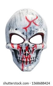 white skull mask isolated on white background