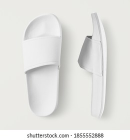 White slide sandal summer slippers