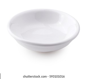white small plate on a white background