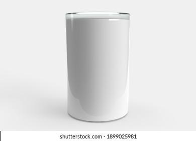 White small tumbler mockup template