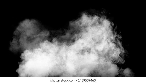 white smoke cloud with black background