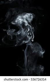 it is white smoke isolated on black.