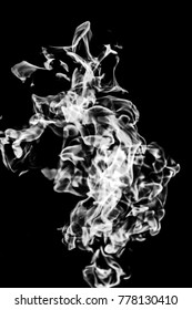 white smoke on a black background, abstraction