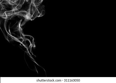 white smoke on black background,B&W