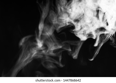 white smoke overlay effect on solid super black background Nature motion smoky steam wave abstract environment pollution, cloud, cigarette, gas, dry ice, chemistry, factory and ghost concepts