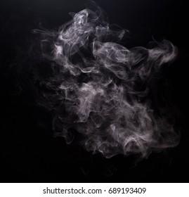 White smoke of vapor electronic cigarette