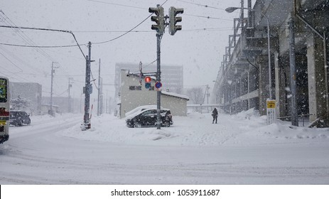 white snowy day