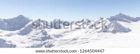 White snowy winter Caucasus