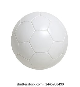 White soccer ball isolated on the background