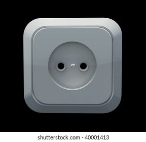 white socket on a wall