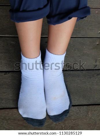 77b002dec2a White Socks School Girls Rural Schools Stock Photo (Edit Now ...