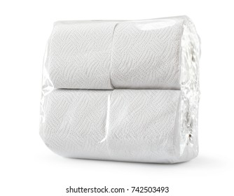 White soft toilet paper in a pack