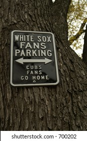 White sox parking sign