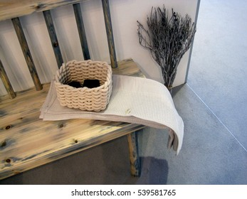 white spa towels with basket