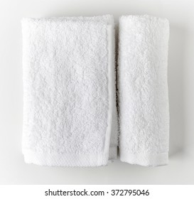 White spa towels, top view