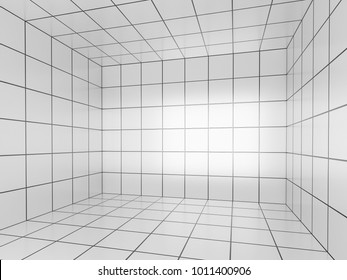 white space with  perspective grid , 3d