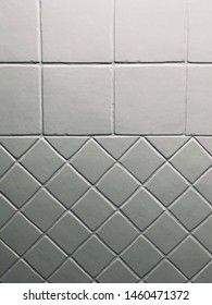 White square and diamond tiles background