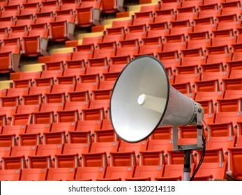 White stadium horn speaker
