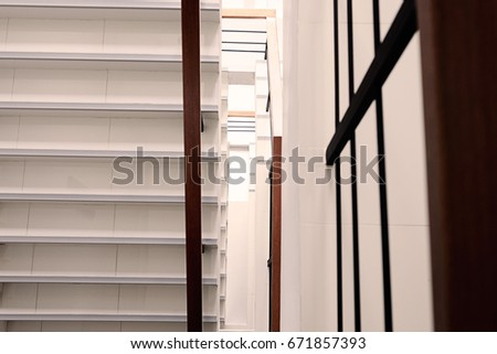 White Stair Modern Building View Above Stock Photo Edit Now