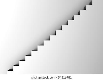 white staircase - minimalism
