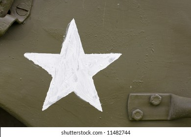 white star detail on wwii jeep