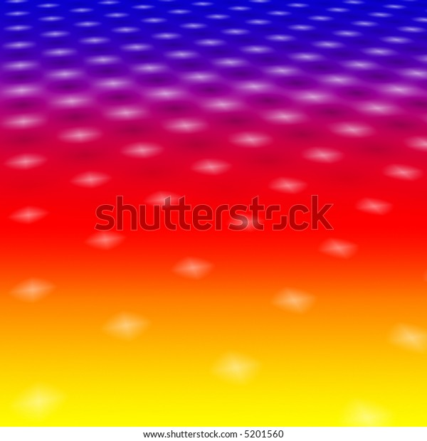 White Star Lights On A Colourful Rainbow Background