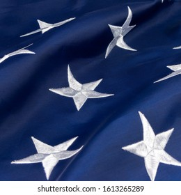 White Stars on Blue on American Flag
