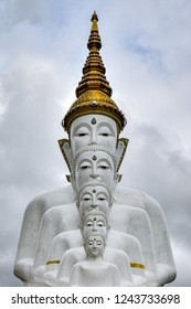 White Statue of Bhudda in Thailand