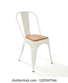 White Steel Chair Isolated