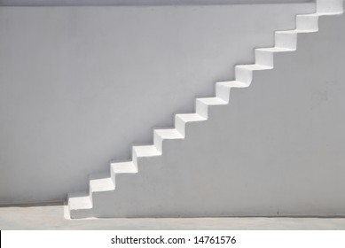 White steps leading to a terrace, Greece