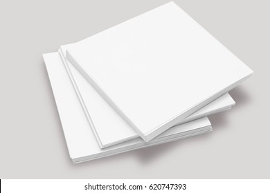 White sticky note pad isolated on white background