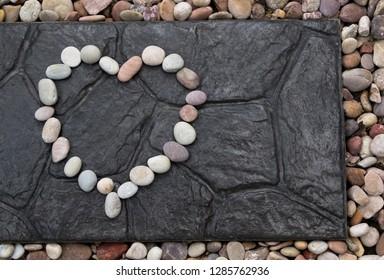 White stone heard background