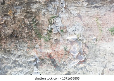 White Stone Texture Background, Abstract 3D Illustration Art For Product Display or Decoration.