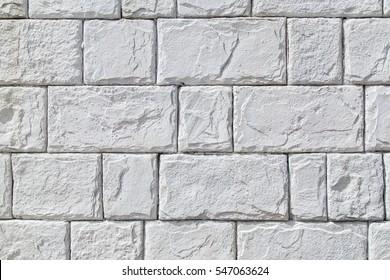 White stone wall as background